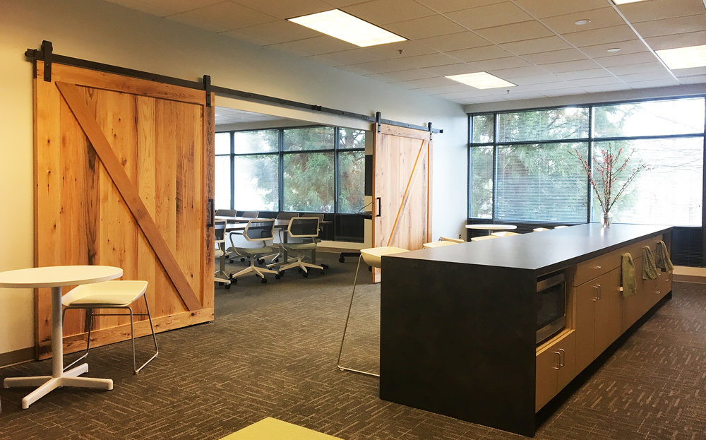 BARN DOORS TO CONFERENCE ROOM