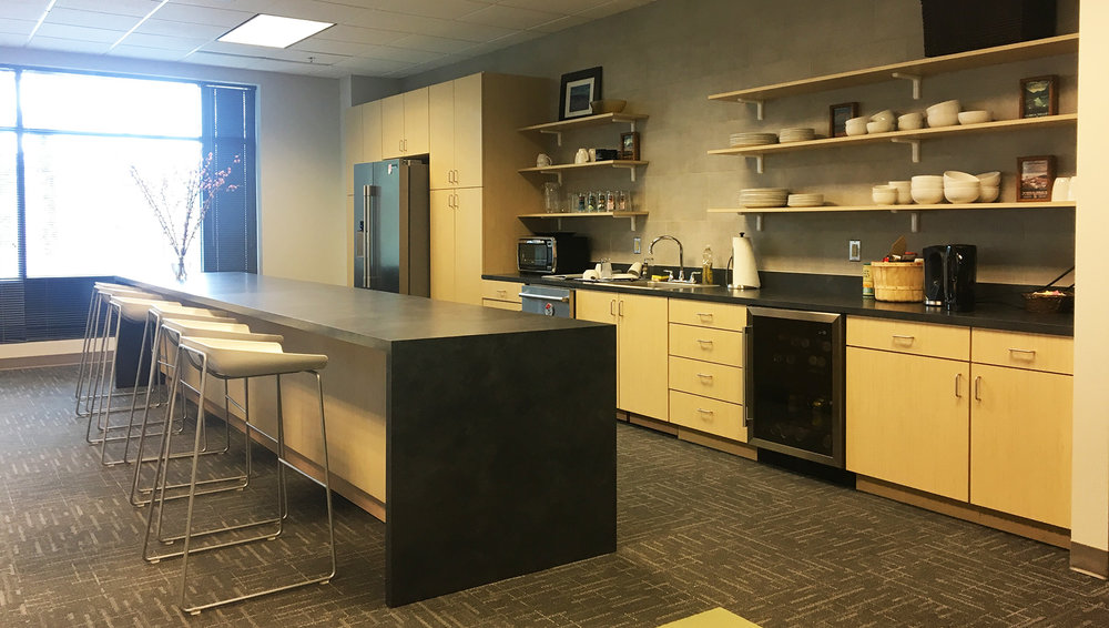 THE NATURE CONSERVANCY BREAK ROOM. I WAS THE ARCHITECT OF RECORD AND COORDINATED WORK WITH MADGE BEMISS ARCHITECT.