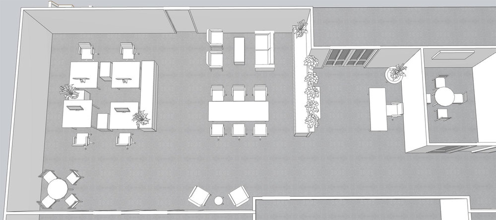 EXAMPLE OF 3D PERSPECTIVE FOR SOLOVIS TO UNDERSTAND HOW THE RECEPTION AND ADJACENT WORK AREA WOULD FEEL