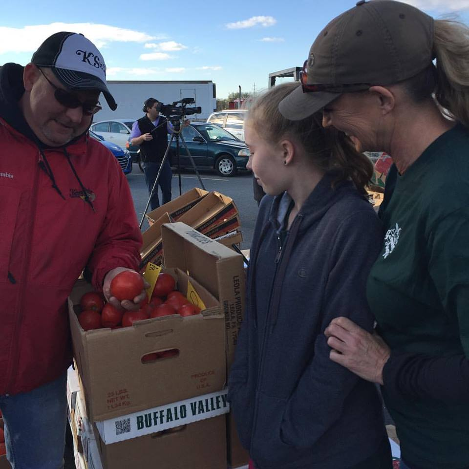 Volunteers Buying Produce