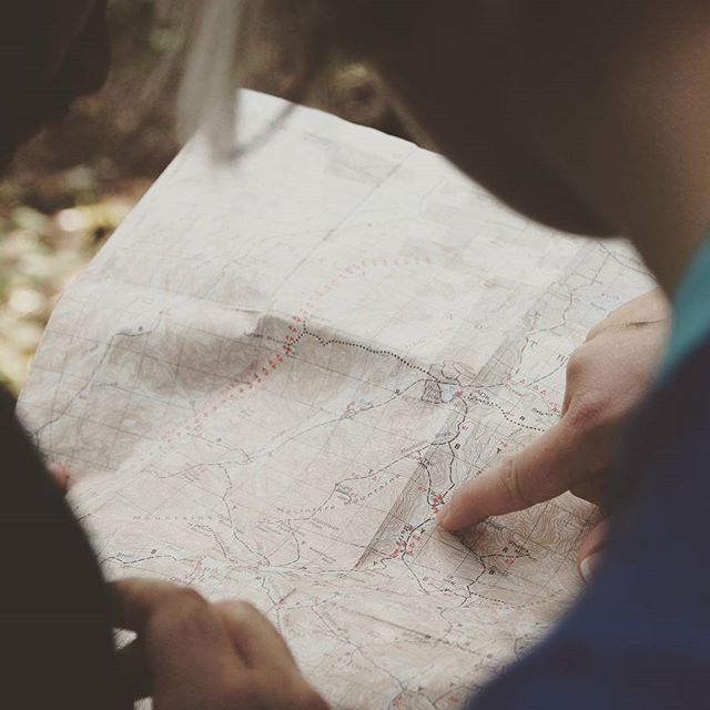Finding the road less traveled. #findyourself #hiking #map #instagood