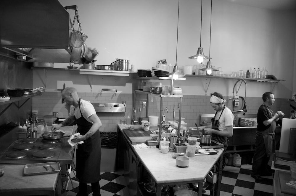 the kitchen in Gothic Restaurant