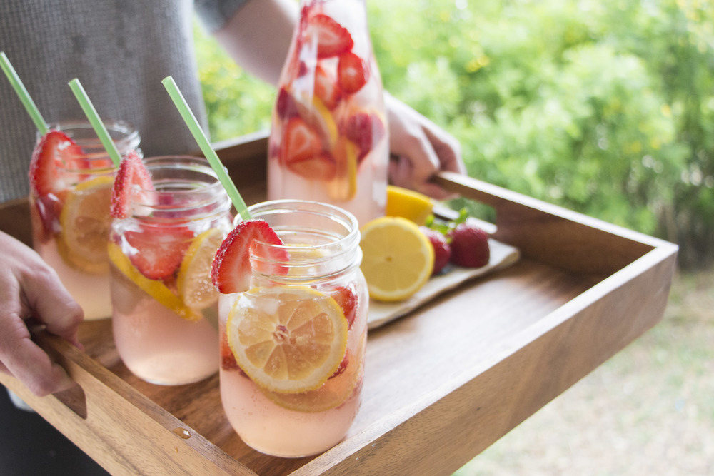 Sparkling Strawberry Sangria — The Hungry Blondes