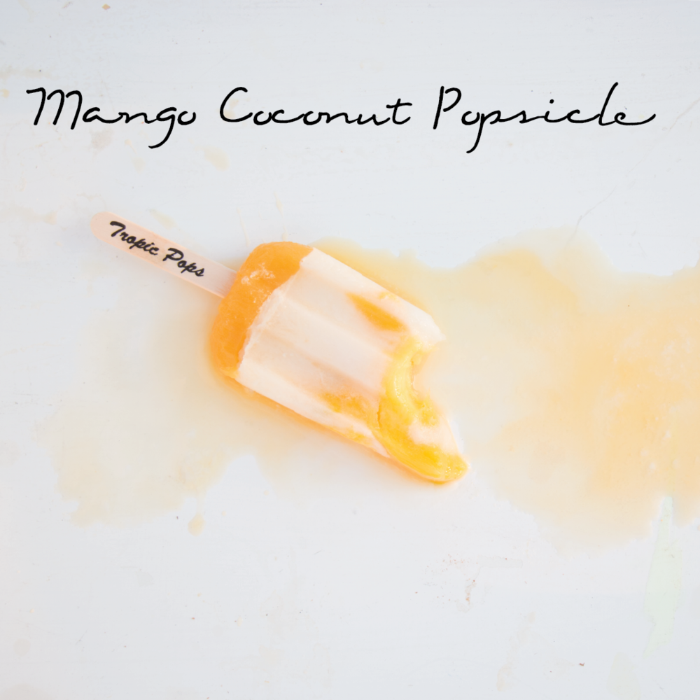 Mango Coconut Popsicle