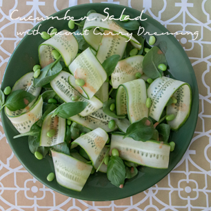 Cucumber Salad with Coconut Curry Dressing
