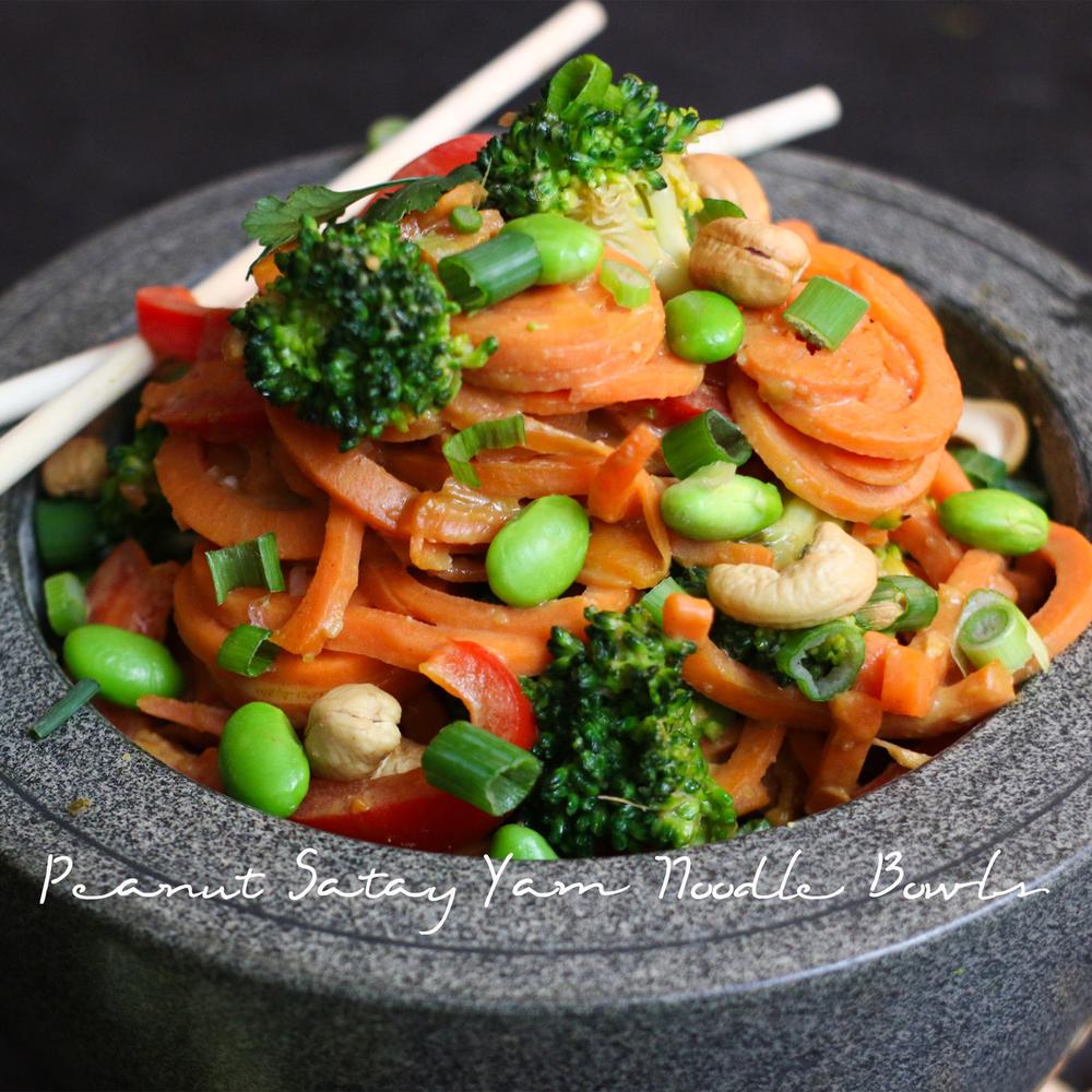 Peanut Satay Yam Noodle Bowl
