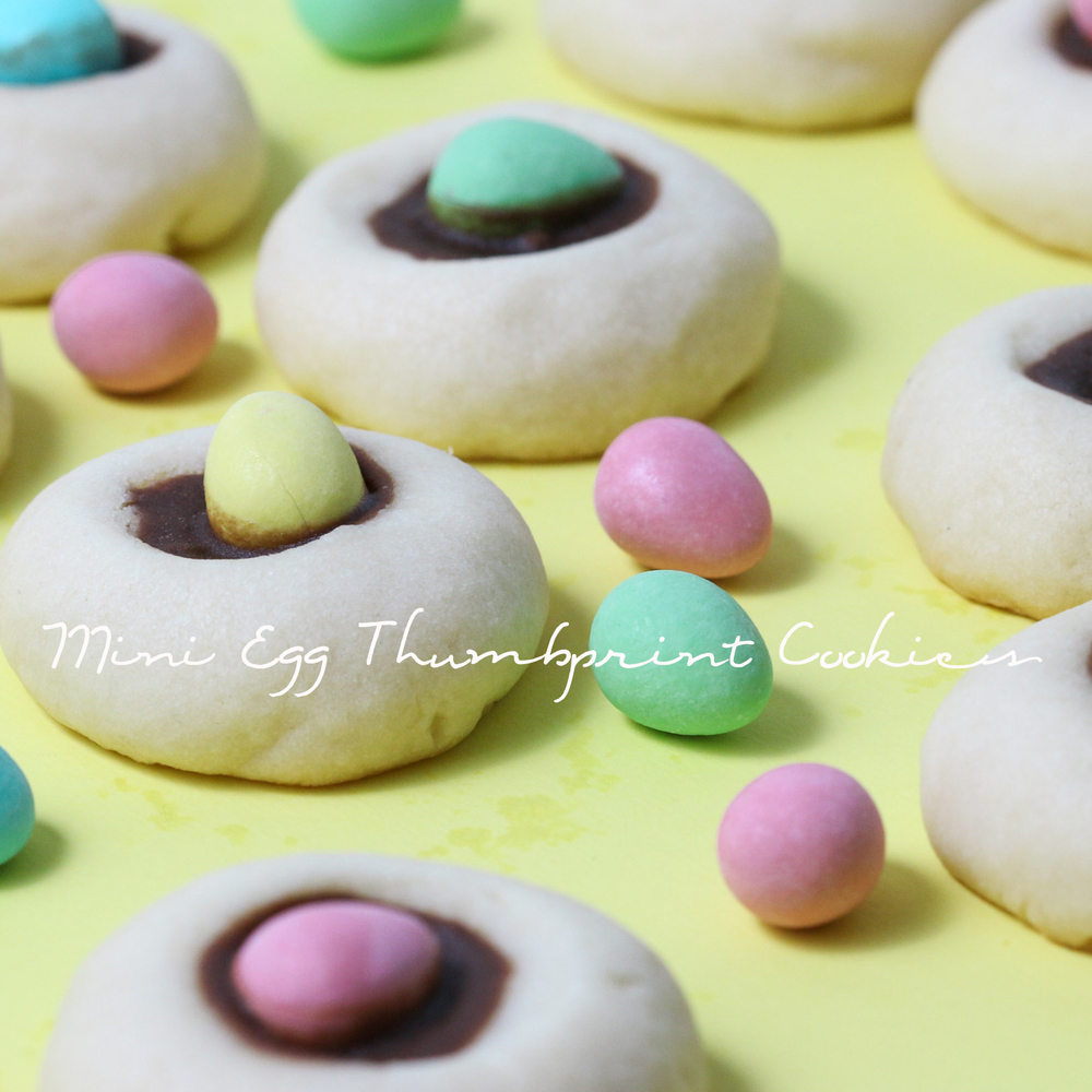 Mini Egg Thumbprint Cookies