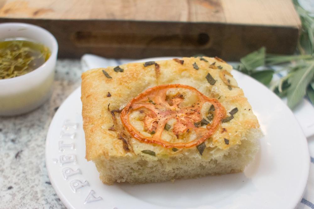 sage, tomato and caramelized onion focaccia bread 2