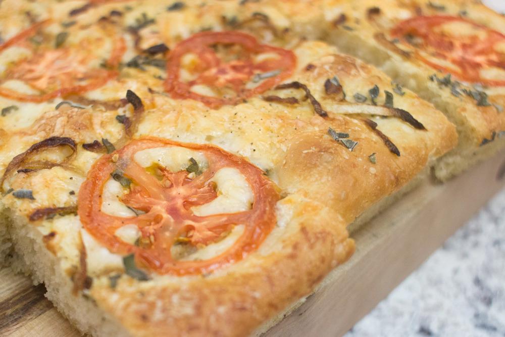 sage, tomato and caramelized onion focaccia bread 3
