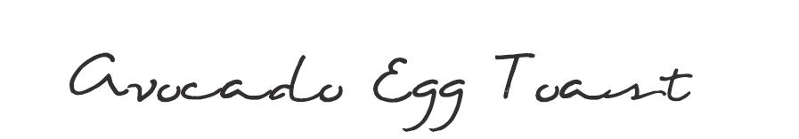 AvocadoEggToastTitle
