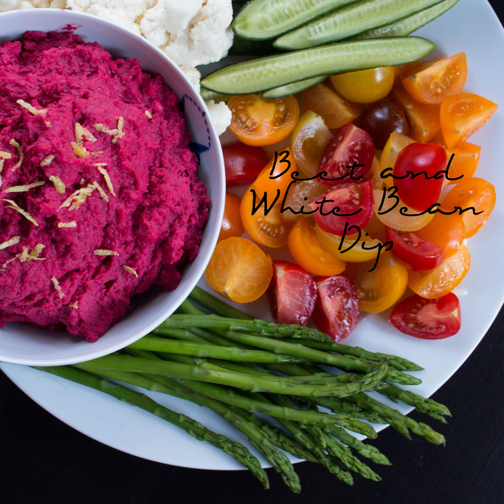 Beet and White Bean Dip