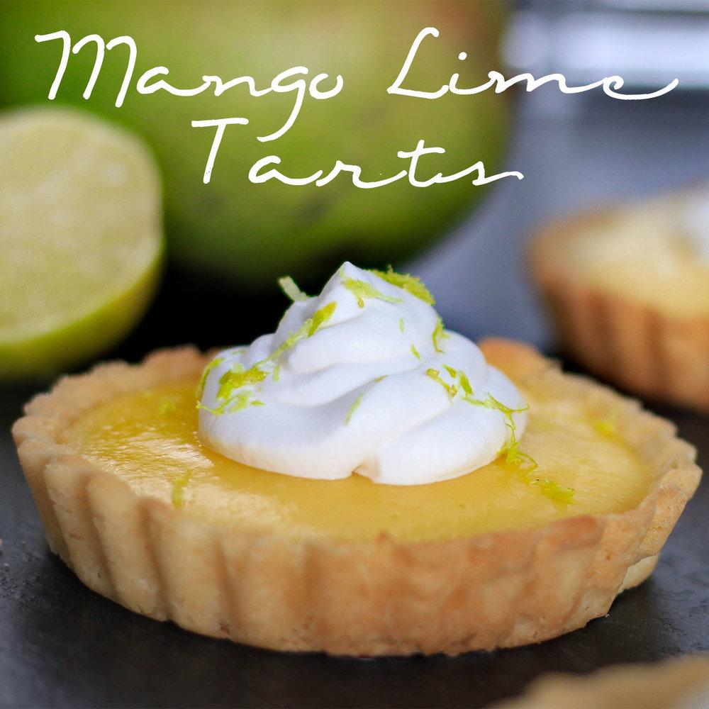 Mango Lime Tarts Square