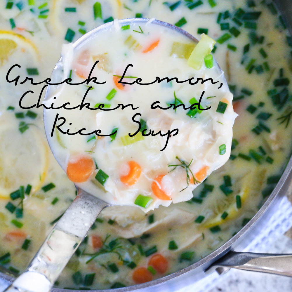 Greek Lemon Chicken and Rice Soup