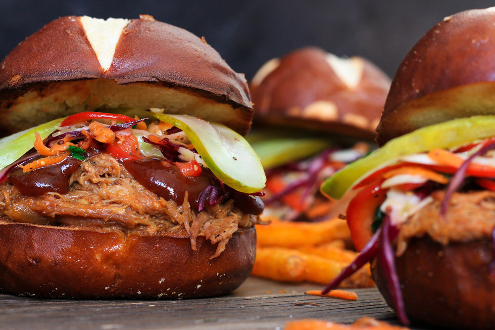 Slow Cooker Pulled Pork Sandwiches with Tangy Coleslaw