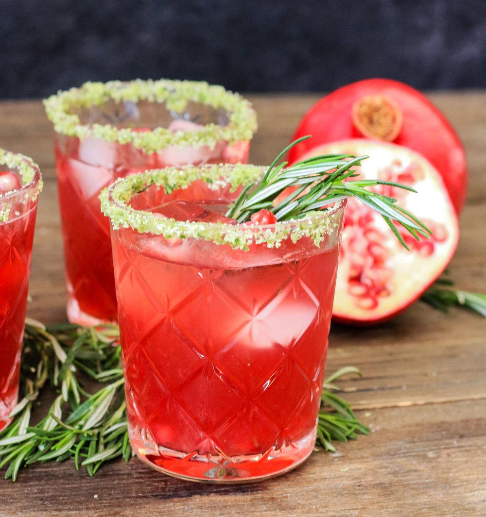 Pomegranate Rosemary Mezcal Margarita