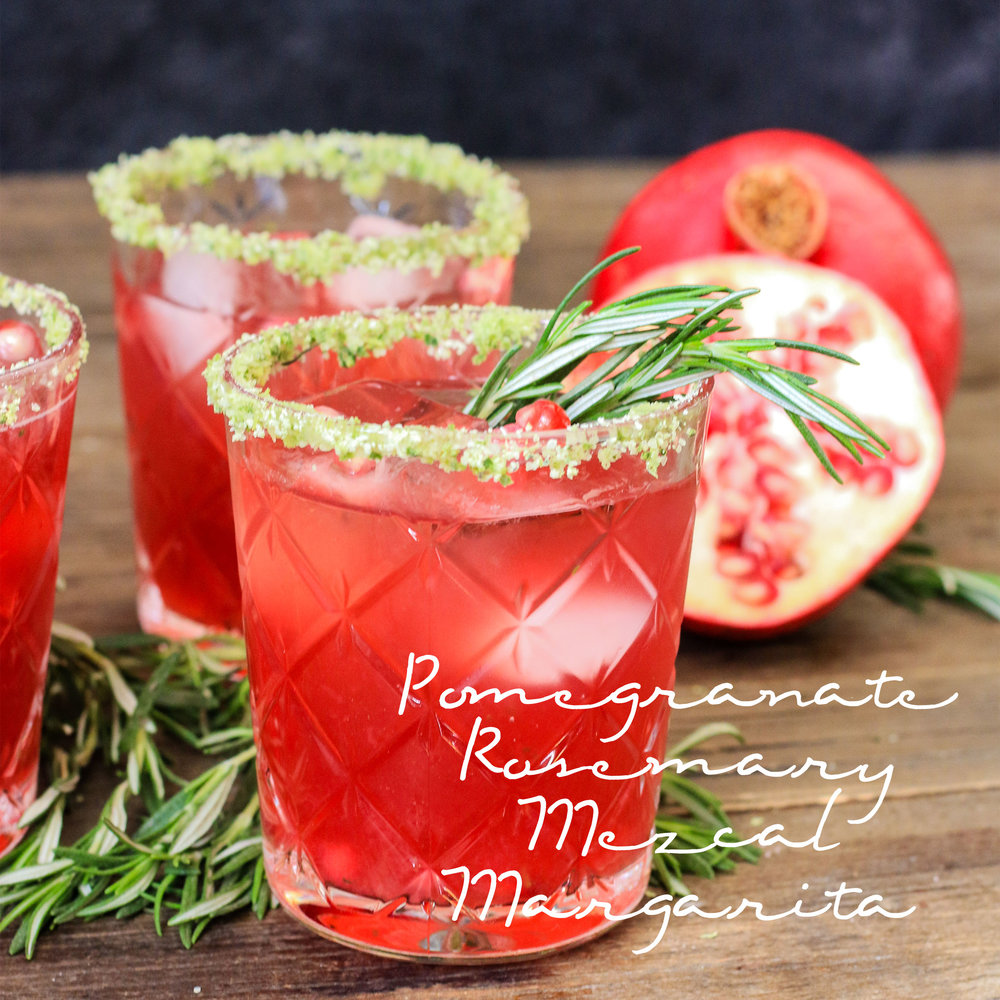 Pomegranate Rosemary Mezcal Margarita