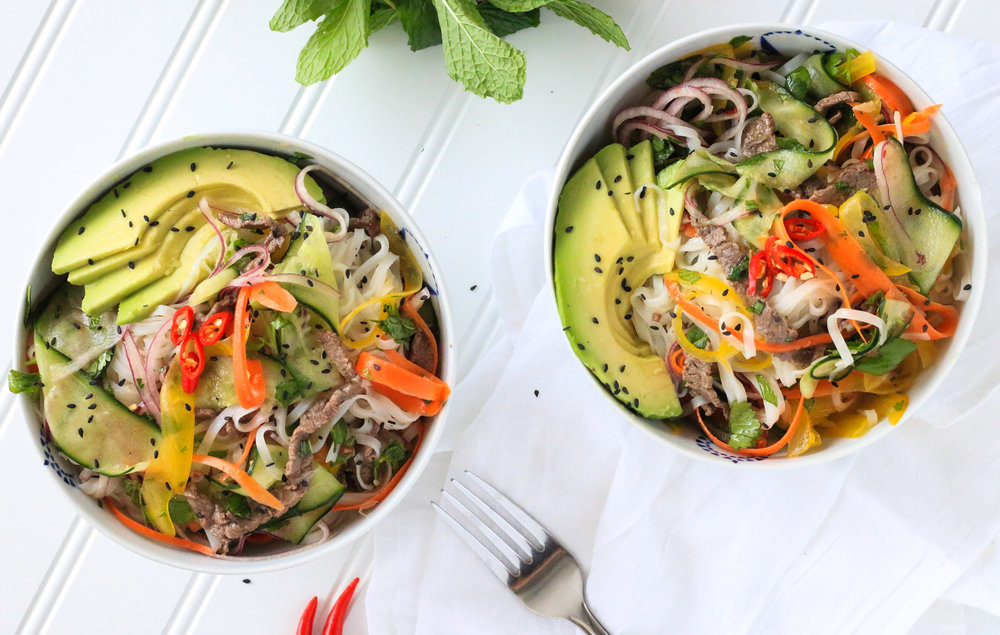 Fresh Veggie Noodle Bowl