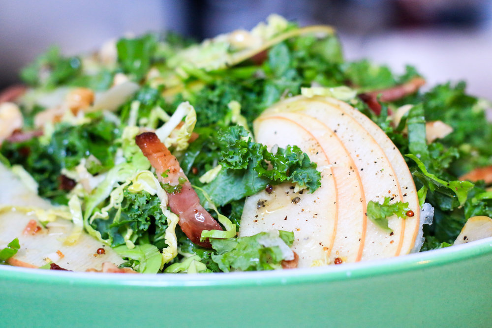 Brussels Sprout and Kale Salad