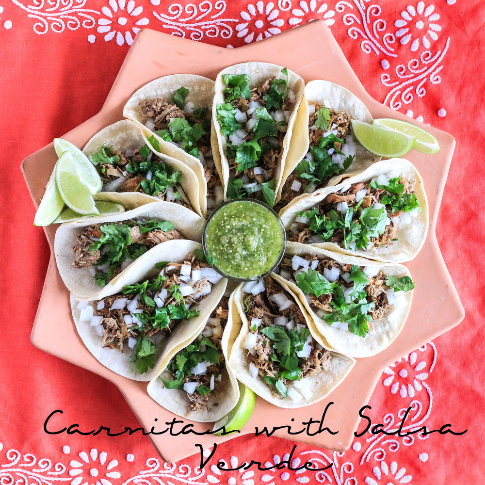 Slow Cooker Carnitas with Salsa Verde