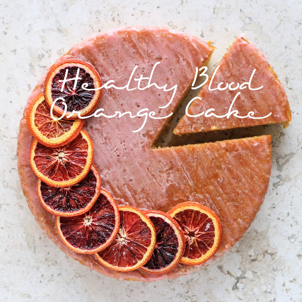 Healthy Blood Orange Cake