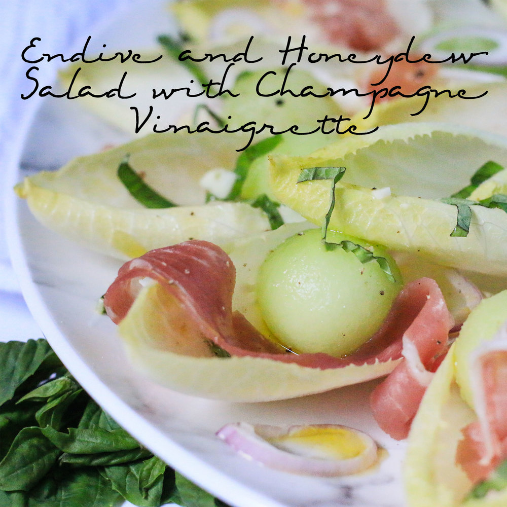 Endive and Honeydew Salad with Champagne Vinaigrette