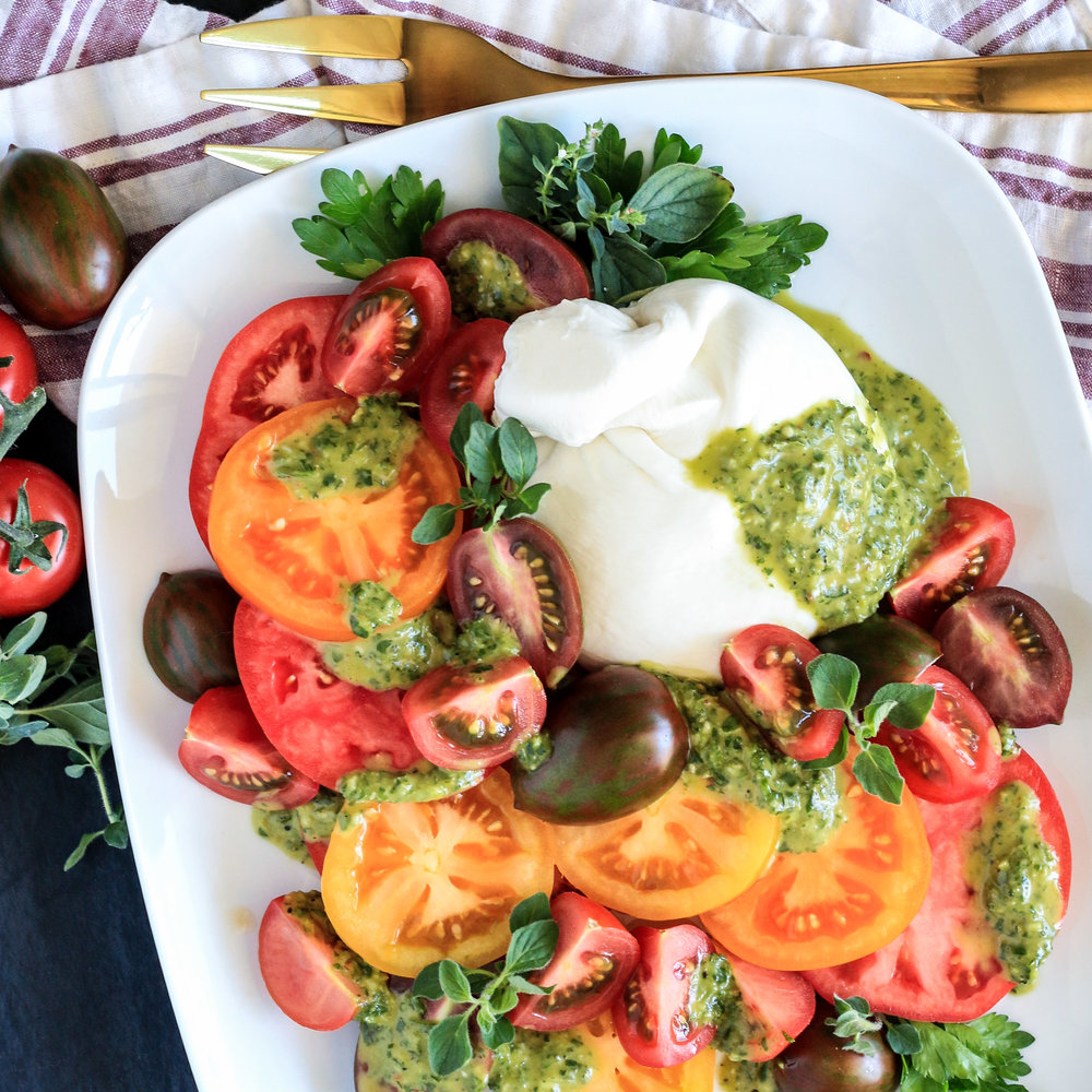 Burrata Salad with Chimichurri Dressing