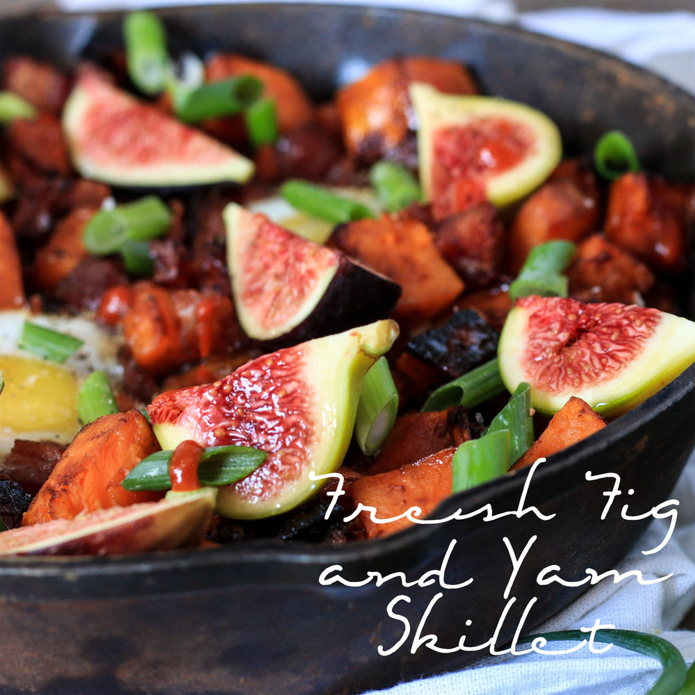 Yam and Fresh Fig Skillet with Maple Chili Glaze
