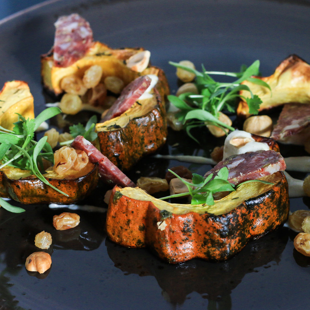 Pictured here, made with roasted squash and finocchiona
