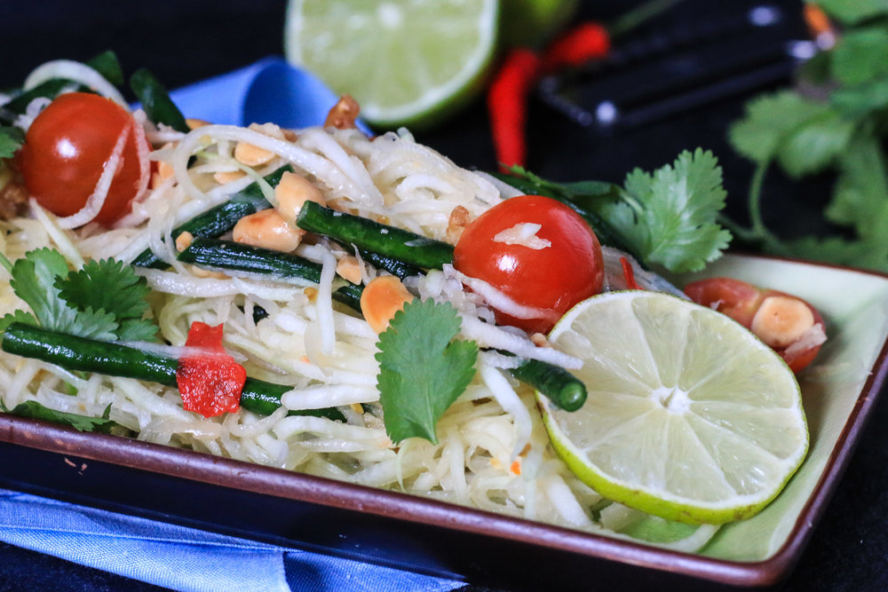 Thai themed dinner party jillian rae cooks thai papaya salad forumfinder Images