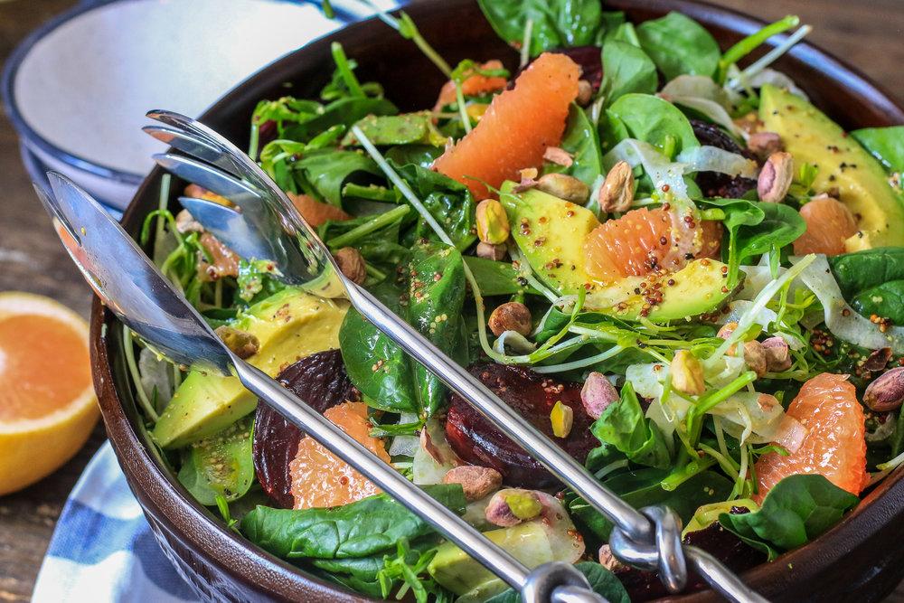 Grapefruit, Beet & Fennel Salad