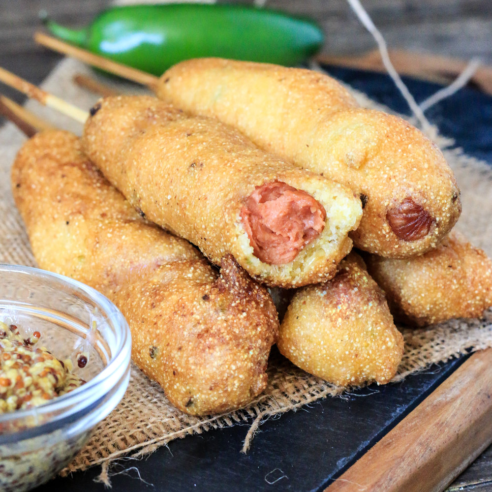 Vegan Jalapeno Corn Dogs
