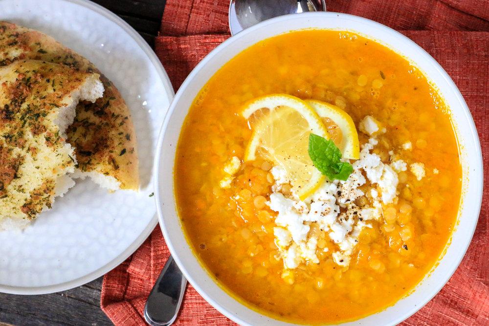 Red Lentil Citrus Soup