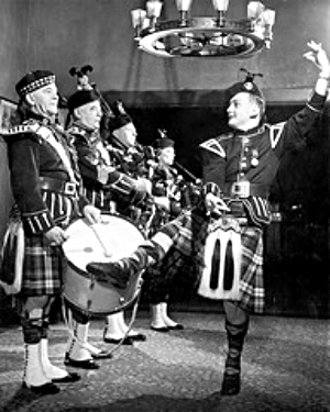 Drum and kilt whiskey party 1962