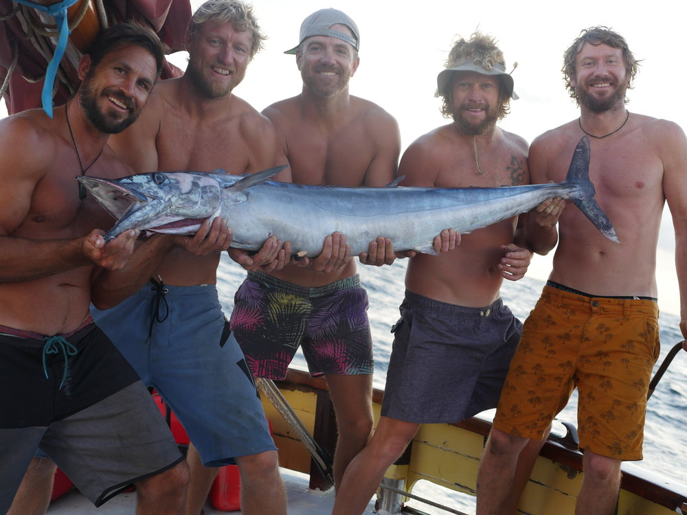Sailors and a Wahoo.