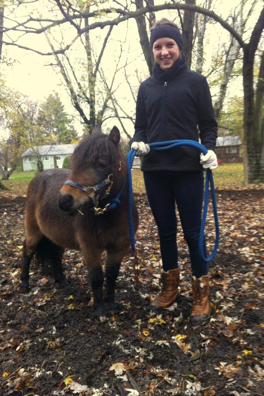 Genevieve and Hershey Oct 31 2012.jpg