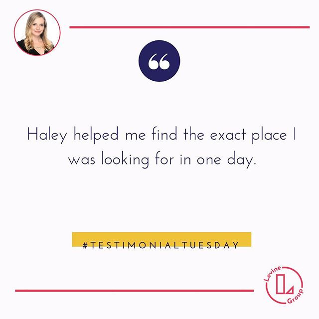 How do you find the perfect house🏠 in☝️day? You have #realtor working for you that asks the all the right questions before starting the search process. If you are thinking about buying in 2019 - 2020 we should set up a coffee or beer date NOW! ⠀ .⠀ .⠀ .⠀ .⠀ .⠀ .⠀ .⠀ .⠀ .⠀ .⠀ .⠀ .⠀ .⠀ .⠀ .⠀ .⠀ .⠀ .⠀ .⠀ .⠀ .⠀ .⠀ #testimonialtuesday #theperfecthome #theperfectrealestatetransaction #realestatedreamteam #thankfulforourclients #kindwords #Realtorreviews #realtor #chicagorealestate #LGCsold #levinegroupchicago #homebuying #househunting #chicagorealtor @haleylevine #chicagohousingmarket #chicagohomes  #perfectiion #ravereview #howtosellahomefast #housegoals #howtobuyahouse #kellerwilliams #happyhomeowners #homeowners #happyclients