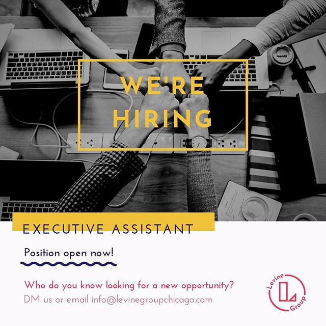 🚨Opportunity Alert🚨  We are growing our team! We need your help in finding the perfect fit.  Who are we 👀looking for: Our Executive Assistant is an individual who is willing and able to earn the right to have a HUGE career! This person relishes the opportunity to build, implement, and manage multiple systems with minimal supervision. Or Executive Assistant is deeply committed to completing tasks the right way with a high degree of quality, attention to detail, and consistent communication. This person has immense focus and can do one thing for a long time without getting distracted. This individual may exhibit some drive and desire to influence; however, the overriding marker of his/her behavior is persistence and stability. Our Executive Assistant is deeply committed to supporting the Levine Group in achieving greater and greater levels of success, and to growing his/her own skills and developing into a supportive leader within the team. As the success of the team grows, this individual will be responsible for hiring, training, and leading additional team members to ensure all administrative tasks of the team's business continue to be completed to high standards with maximum efficiency.  We'd love to hear from you!