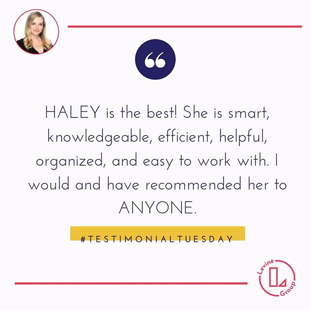 Our goal is to provide the #perfect home buying experince If you are or someone you know is thinking about buying or selling a home in 2019 we'd love to chat! . . . . . . . . . . . . . . . #testimonialtuesday #theperfecthome #theperfectrealestatetransaction #realestatedreamteam #thankfulforourclients #kindwords #Realtorreviews #realtor #chicagorealestate #LGCsold #levinegroupchicago #homebuying #househunting #chicagorealtor @haleylevine #chicagohousingmarket #chicagohomes  #perfectiion #ravereview #howtosellahomefast #housegoals #howtobuyahouse #kellerwilliams #happyhomeowners #homeowners #happyclients