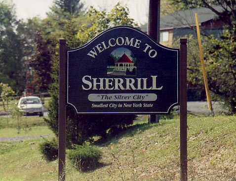 Our hometown, Sherrill, NY. Yep, it's the smallest city in New York State (2 square miles and population 3,080).
