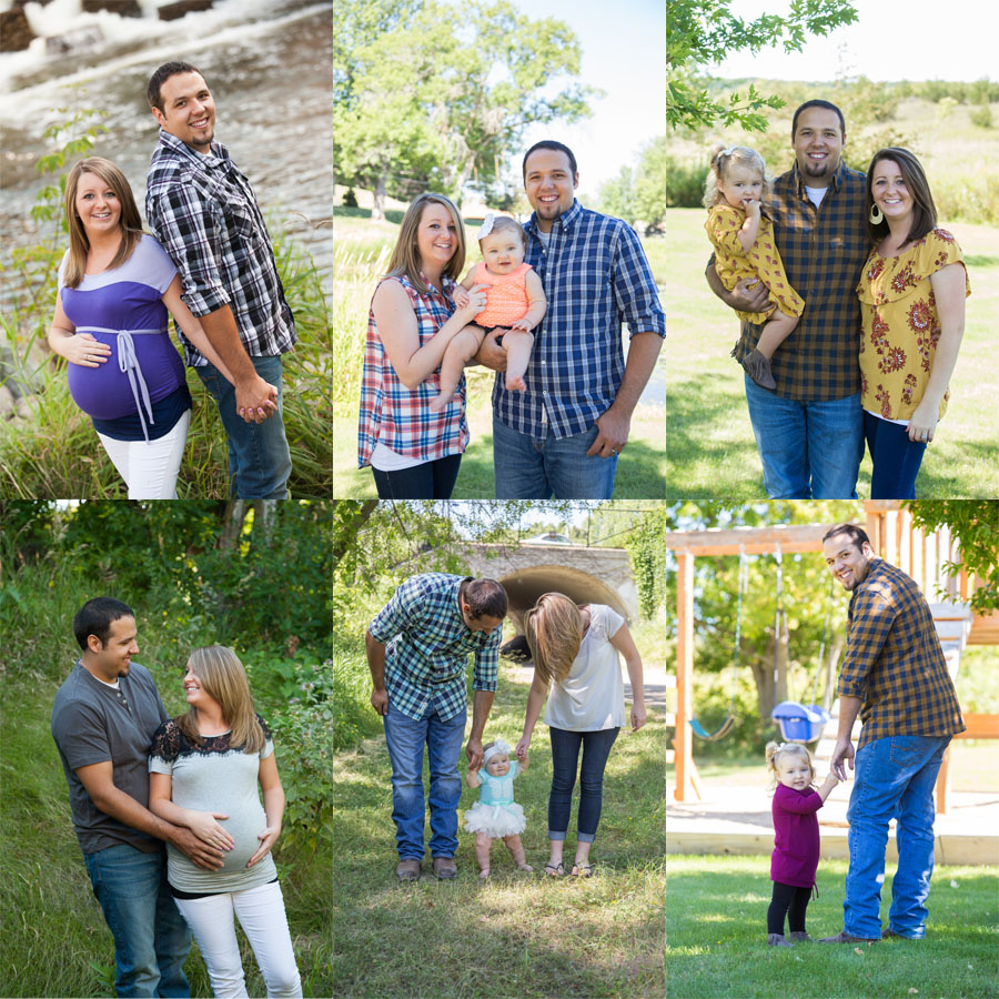 Pokornowski maternity session collage Whippoorwill Photography.jpg