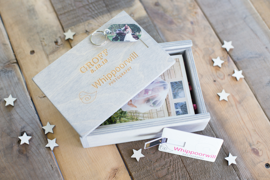 Wedding delivery box print packaging flash drive Whippoorwill Photography.jpg