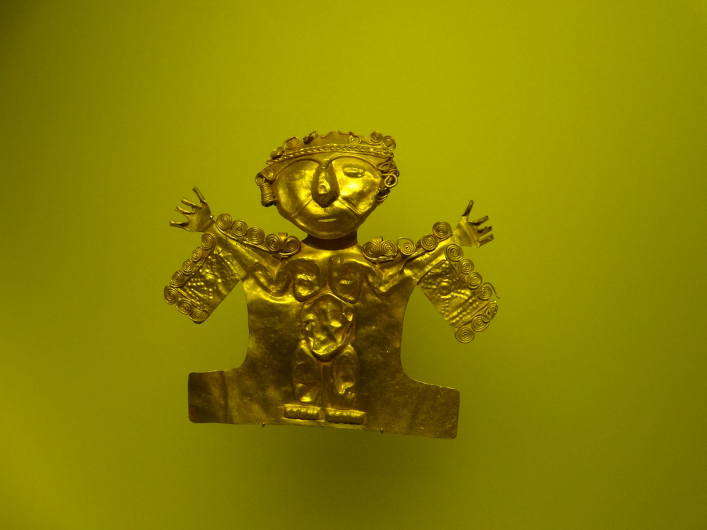 The Gold Museum in Bogota has the largest collection of Pre-Hispanic gold in the world.