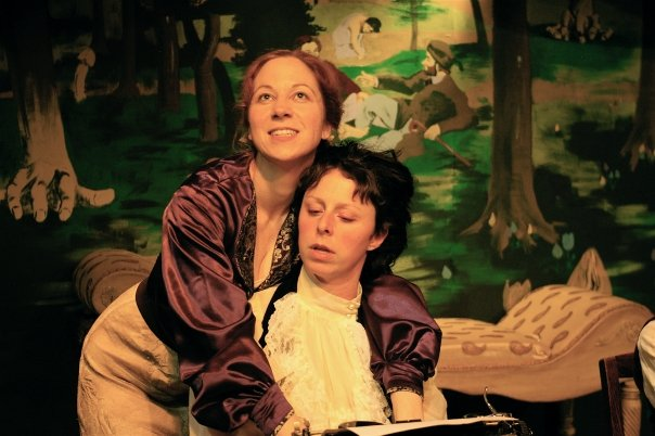 Rhoda in Age of Arousal by Linda Griffiths (with Dana Marks)  Photo credit: Alan Dehmer