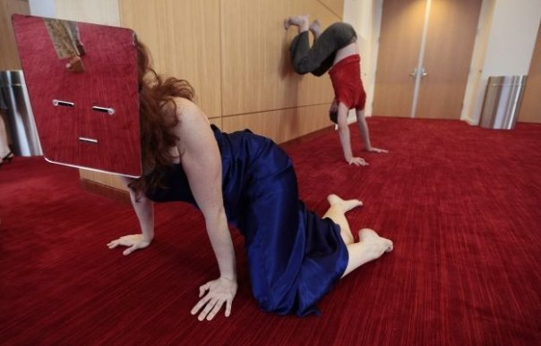 Ensemble dancer in Please Restate Your Question in the Form of an Answer  Photo courtesy Raleigh News & Observer