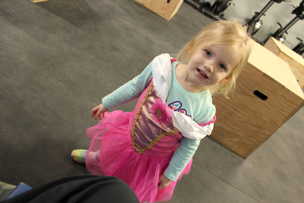 Princess always ready to break a sweat ...