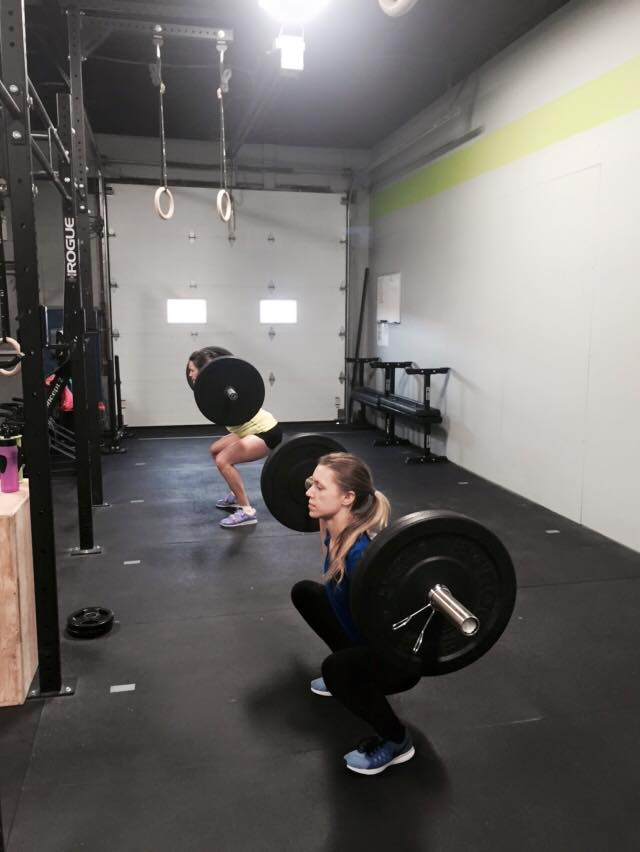 Sommer showing us how to squat ...