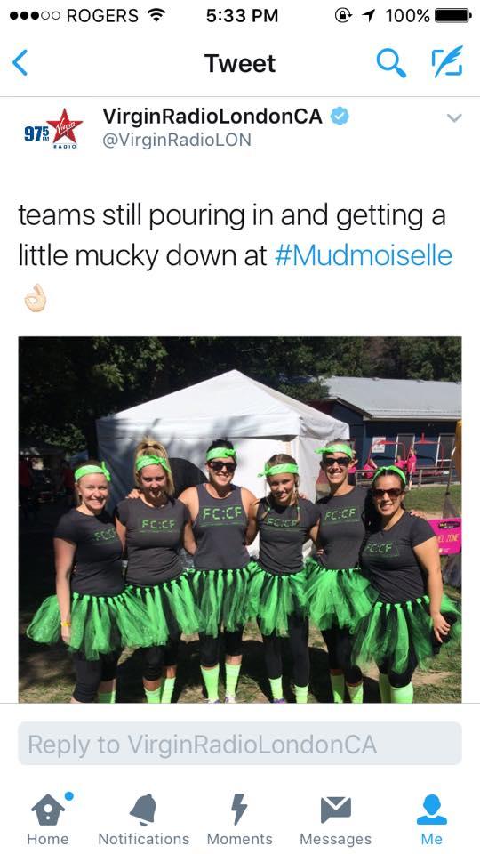 Some FCCF girls rocking the Mudmoiselle Mud Run ...