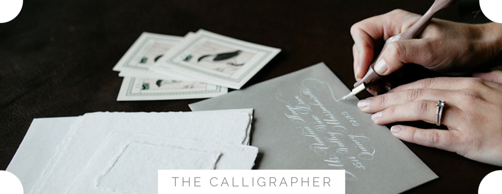 CalligrapherWritingAtDeskBespokeStrokesCalligraphy