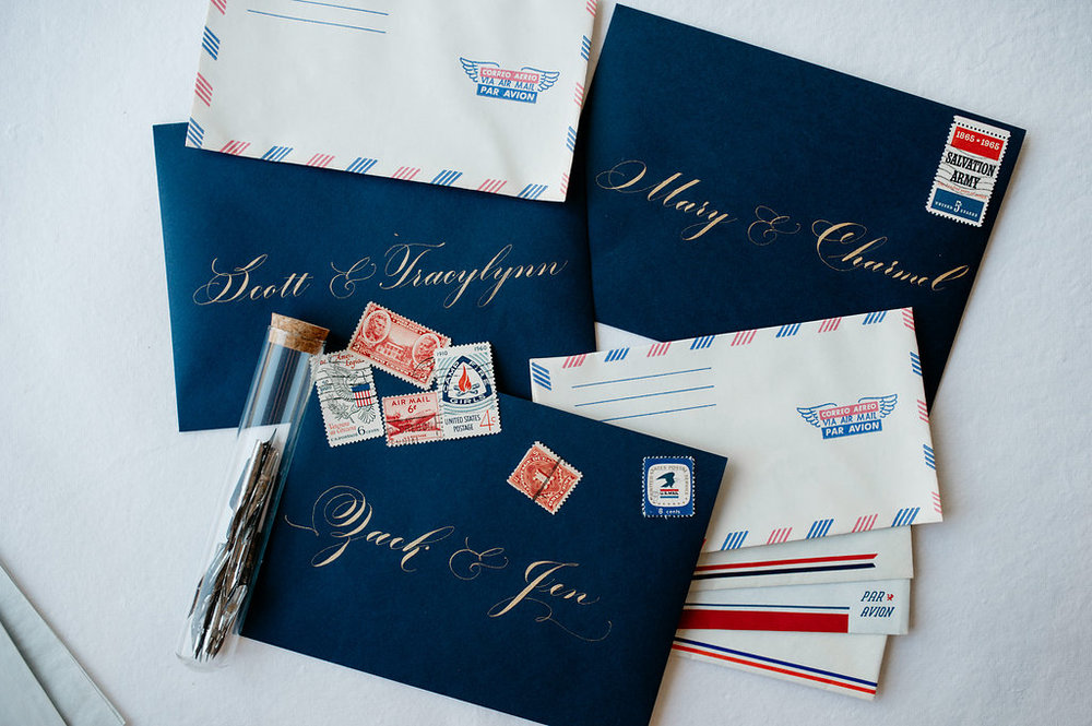 Inner Envelopes in Flourished Copperplate Style