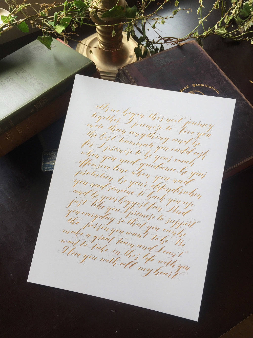 ModernCalligraphyVowBespokeStrokesCalligraphy